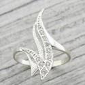 Серебряное кольцо Пламя со вставками из циркония