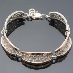 Женский серебряный браслет Фея с золотом