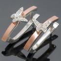 Небольшие серьги Софи из серебра и золота