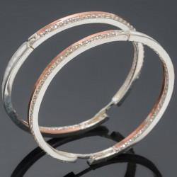 Серьги кольца Дюк с золотой напайкой