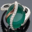 Кольцо женское Адель из серебра 925 с улекситом