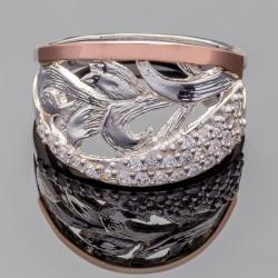 Кольцо Руслана из серебра и золота