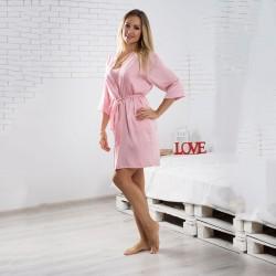 Укороченный домашний шелковый халат