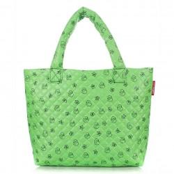 Яркая дутая сумка Poolparty УТОЧКИ (зеленая)