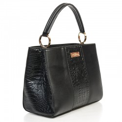 Черная сумка Betty Pretty под рептилию