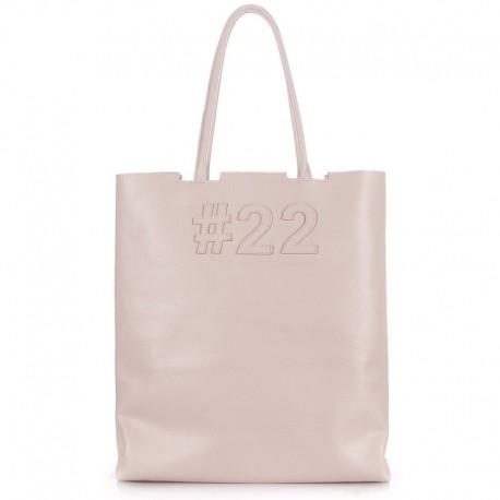 """Сумка Poolparty """"22"""", итальянская кожа (бежевый)"""