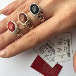Женское кольцо с авантюрином