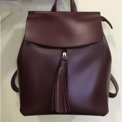 Женский рюкзак (марсала)