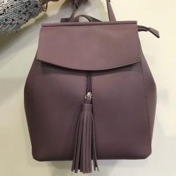 Рюкзак из матовой эко-кожи (лиловый)