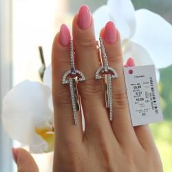 Длинные серебряные серьги Илона