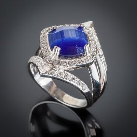 Серебряное кольцо Александрия с улекситом