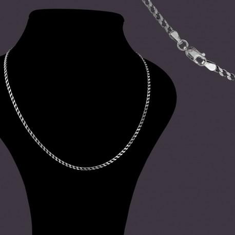 Цепь серебро Панцирное плетение
