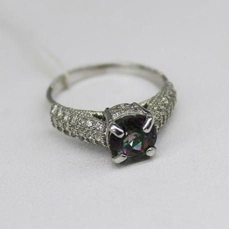 Серебряное кольцо Лариса, родий