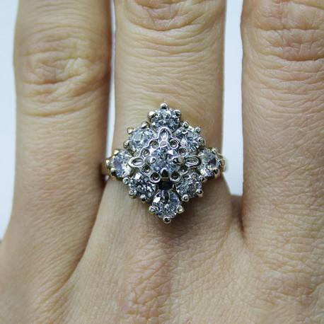 Серебряное кольцо Изабелла, родированное