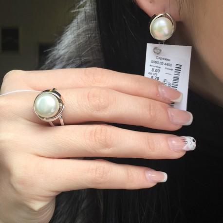 Серебряные изделия Марианна с жемчугом