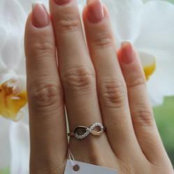 Серебряное кольцо Знак безконечности