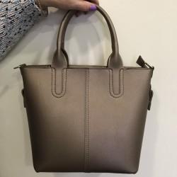 Матовая дамская сумка (бронза)