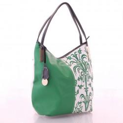 Сумка V. Fabbiano с вышивкой (зеленый)