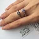 Миниатюрное серебряное кольцо Мисс