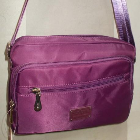 Сумка-клатч плащевая (фиолетовый)
