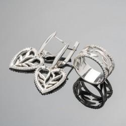 Комплект серьги и кольцо Наоми