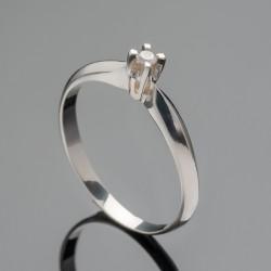 Гладкое серебряное кольцо Канна