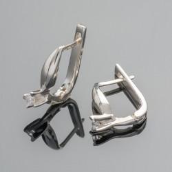Серебряные серьги Канна