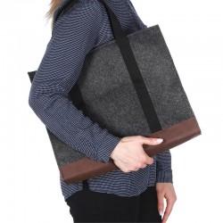 Войлочная сумка прямоугольная (черный)