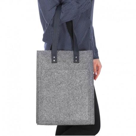 Войлочная сумка прямая (серый)