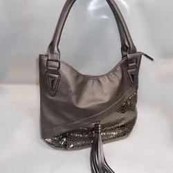 Прямая женская сумка (бронза)
