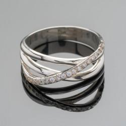 Серебряное кольцо Адажио с камнями