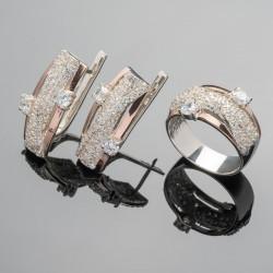 Серебряные украшения Венера с золотом