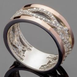 Кольцо Эллада из серебра и золота