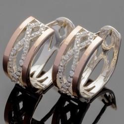 Эллада - женские серебряные серьги