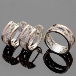 Серебряные украшения Эллада с золотом