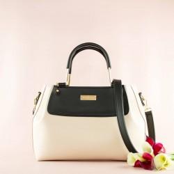 Двухцветная женская сумка (крем)