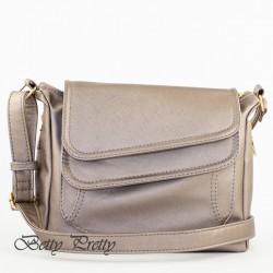 Женская сумка с ремнем (бронза)