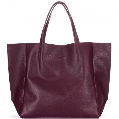 Брендовая женская сумка Poolparty SOHO, 100% кожа (бордо)