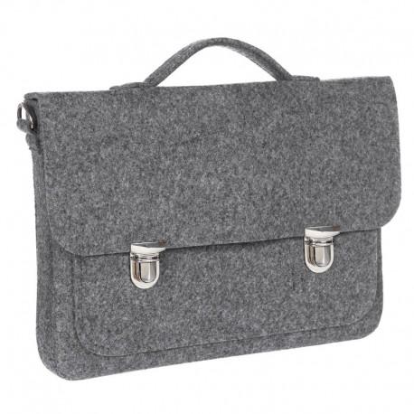 Портфель из войлока для работы (серый)