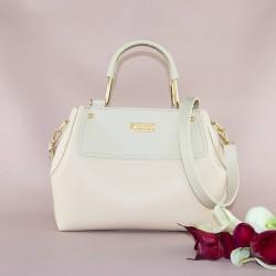Двухцветная женская сумка (молочный)