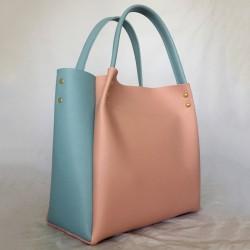 Комбинированная сумка (персик)