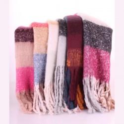 Комплект из 6 теплых шарфов-пледов