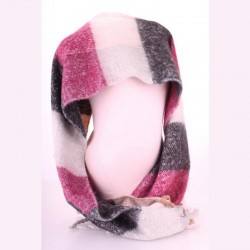 Мягкий шарф в виде пледа размера 200х45 см