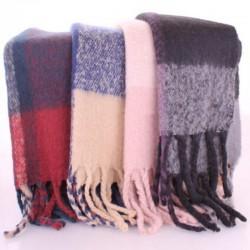 Комплект из 4 теплых шарфов пледов из акрила