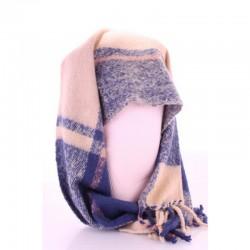 Уютный шарф плед из акрила размер 200х45 см