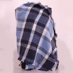 Большой шарф плед в клетку размер 260х65 см