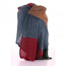 Тонкий вязаный шарф палантин 230х50 см