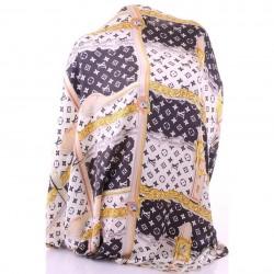 Женский шарф LV, шелк (черный)