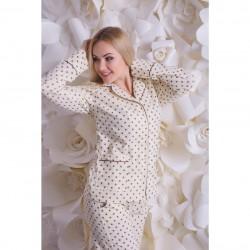Мягкая пижама из фланели, рубашка и брюки