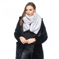 Серый шарф из меха
